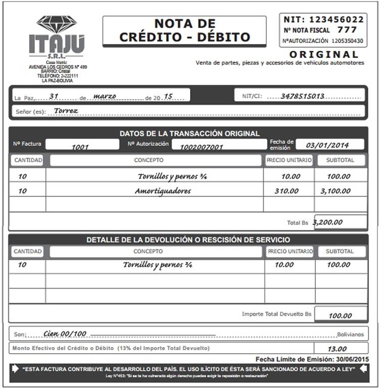 FINANZAS PERU WEB | NOTA DE CREDITO